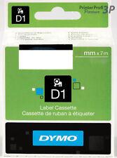 Dymo D1 Schriftband 53710 24mm schwarz-transparent NEU für 450 PC II PnP, 500TS