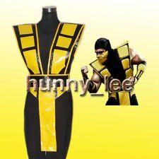 Mortal Kombat 3 Scorpion Cosplay Costume Custom-Made Yellow
