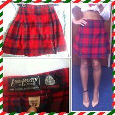 🐑 Vintage Laird-Portch Of Scotland Pure Wool Scottish Pleat Tartan Skirt Kilt 8