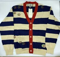 Gucci Embroidered striped knit cardigan 100% Authentic RRP 1800 USD