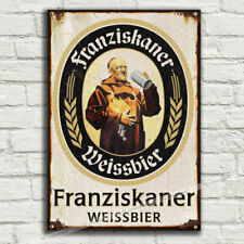 FRANZISKANER Deutschland WEISSBIER Metal Tin Plaque Sign Man Cave Pub Club BAR