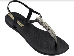 Details about  /Ipanema Women`s Flip Flops Leah Sandal Beige and Gold Brazilian Sandals NWT