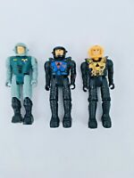 "Vintage Starcom figures x 3 action figures 2"" tall"