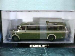 WOW EXTREMELY RARE Mercedes O 3500 Bus Aachener 1:43 Minichamps-302/317/321/404