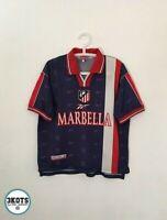 ATLETICO DE MADRID 1998/997 Away Football Shirt YXL Reebok Vintage Soccer Jersey