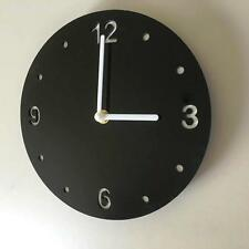 Round Black & White Clock - (white Backed), white Hands & Silent Sweep Movement