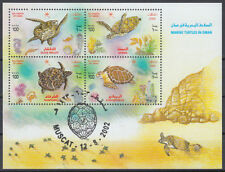 Oman 2002 used Bl.31 Schildkröten Turtles Tiere Animals [ga917]