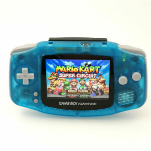 Nintendo Game Boy Advance GBA Clear Blue System Brighter Backlit IPS LCD MOD!