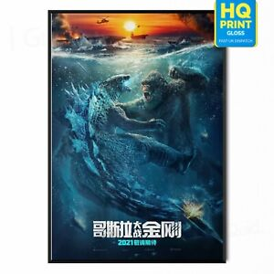 Godzilla vs. Kong 2021  Adam Wingard Movie Poster Print | A5 A4 A3 A2 A1