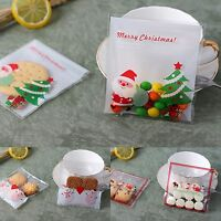 30x Christmas Gift Bags santa and snowman Treat Lollies Bag Macaron Cookie  DIY