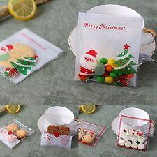30x Christmas Gift Bags santa and snowman Treat Lollies Bag Macaron Cookie  DIY