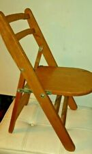 Vintage Folding Wood Strong Stool Chair 19 x 11 x 12