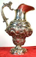 GRANDE CARAFFE AGUAMANIL. ARGENT CISELÉ. BAROQUE ITALIEN. ITALIE XVIII-XIX