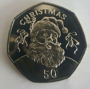 Rare Gibraltar Christmas 50p fifty pence coin 2017 2018 2019 2020