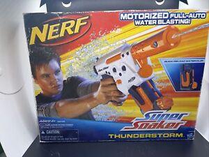 Hasbro NERF Super Soaker THUNDERSTORM Motorized Water Gun 2010 28495 NOS Vin