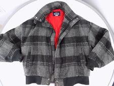 Woolrich 70's Mens Vintage Wool  Gray Bomber Jacket Coat M medium