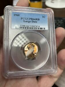 1960 Large Date Lincoln Memorial Cent Proof PR66RB PCGS 🌈🌈