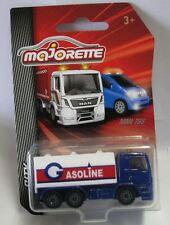 Majorette Model Car metal DieCast City Cars MAN TGS Gasoline Tanker truck 1/87