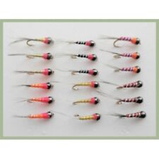 18 Perdigon Nymph, Mixed Colours Sizes 12/14/16, Grayling Flies, For Fly Fishing