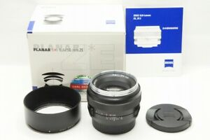 Carl Zeiss Planar T 50mm F1.4 ZE MF Lens for Canon EF Mount w/ Box #211023m
