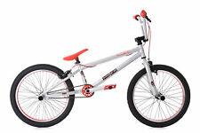 """20"""" BMX Bike Freestyle Fahrrad Rad Twentyinch silber-rot 649B"""