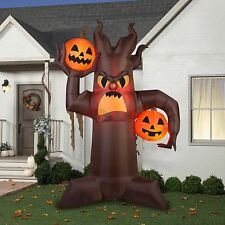 10.5 Feet Fire and Ice Scary Tree Halloween Airblown Inflatable Decoration