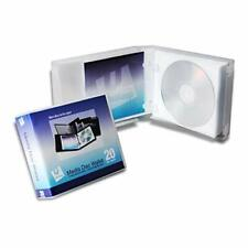 UniKeep Disc 20 CD/DVD Wallet (Clear) with Pages - Pack of 3