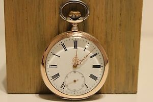 ANTIQUE RARE BEAUTIFUL MEN'S TWO TONE SOLID SILVER 0.800 OPEN FACE POCKET WATCH