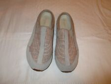 Easy Spirit Travel Time shoes tan beige size 8.5 M USED EUC 18-D gray canvas