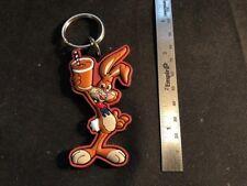 NEW - Nesquik Bunny Rabbit Rubber KeyChain - Nestles Quick - Key Ring - Packaged