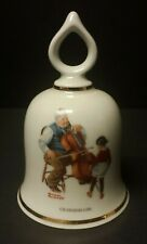 1979 Norman Rockwell Grandpa'S Girl Ceramic Bell - Danbury Mint