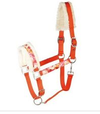 Harry's Horse Head Collar Orange And Pink, Flowers Fluffy Full