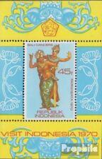 Indonesia Blok 16 (volledige uitgave) postfris MNH 1970 Toerisme