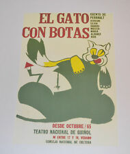 Cuban Theater Poster Art.Home or Room Decoration.Gato con botas.Cat with boots