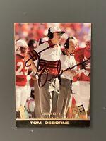 Tom Osborne Autographed Card Nebraska Football JSA COA 1998 Press Pass