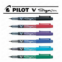 Pilot V Sign Pen Handwriting Pen- 2mm Thick Tip - Liquid Ink SW-VSP