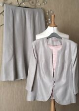 NWT SIZE 20 JACQUES VERT SILVER GREY JACKET/SKIRT SET MOTHER OF THE BRIDE/GROOM