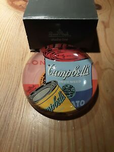 Rosenthal studio line, Andy Warhol Paperweight Cambell's Soup