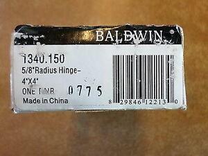 "Pair Baldwin 4""x 4"" 5/8 Radius Nickel Hinges 1340.150 BR7027.002"