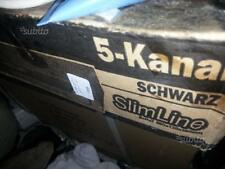 Amplificatore SCHWARZ 5 canali  slim line