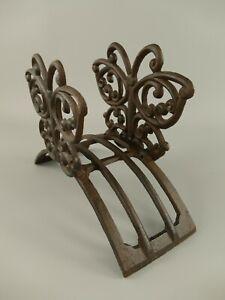 9977796 Cast Iron Figure Hose Holder Butterfly Iron Rustic H24cm