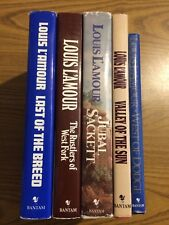Louis L'Amour Lot of 5 HB books Jubal Sackett Valley of the Sun West of Dodge DJ