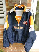 VTG 90s DETROIT TIGERS BASEBALL Anorak STARTER Windbreaker MLB Jacket L guc