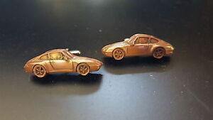 Porsche 911 circa 1993 (993) Classic Car Limited Copper Effect Cufflinks ref194