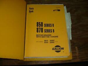 Galion 850B 870B Motor Grader Parts Catalog Manual