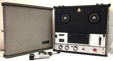 Vintage Sony TC-105 Reel To Reel Tape Player Recorder, W/ Sony F-25 Cardioid Mic