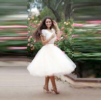 Tulle White Short Party Skirts Womens Ladies Prom Dress Skirt