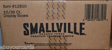 Smallville Season 3 inkworks Sealed Case 10 Box Lot Auto Costume Trading Cards