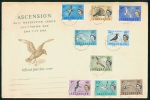 Mayfairstamps Ascension FDC 1963 Bird and Queen Combo First Day Cover wwp_76691
