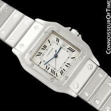 CARTIER SANTOS AUTOMATIQUE Mens / Ladies Size SS Steel Watch, Mint with Warranty